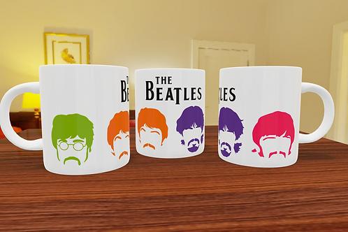 Caneca de Porcelana Personalizada The Beatles - 325ml