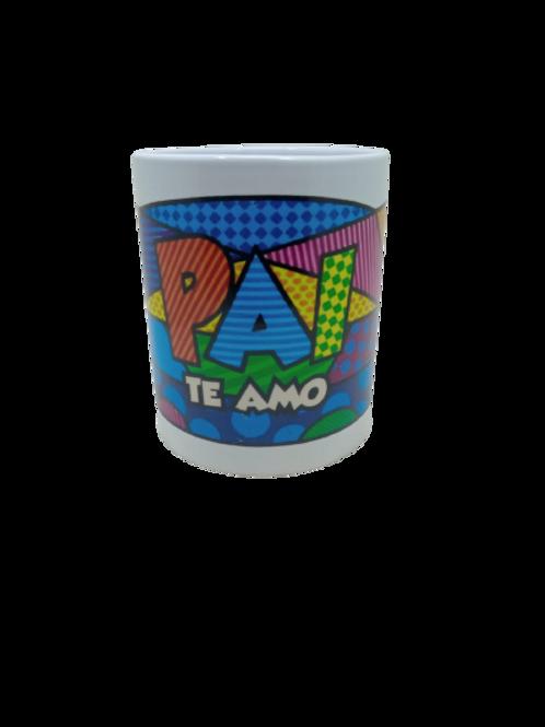 """Caneca Porcelana Personalizada """"Pai Te Amo"""""""