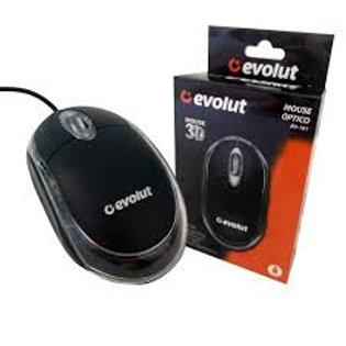 Mouse Óptico Evolut EO-101 800 DPI