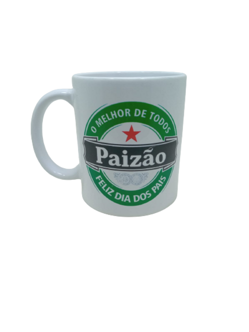 """Caneca Porcelana Personalizada """" Paizão """""""