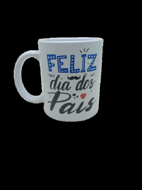 """Caneca Porcelana Personalizada """" Feliz dia dos Pais """""""