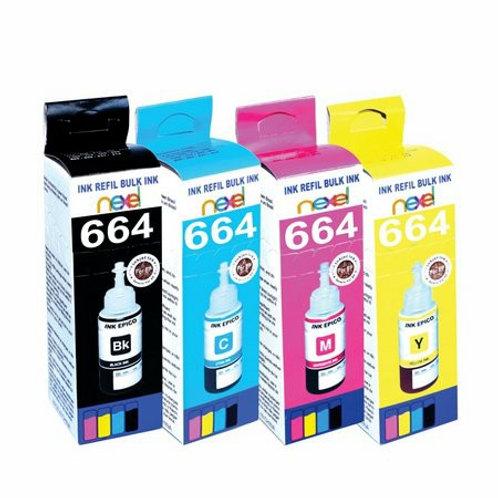 Kit Tinta Similar Epson T664/4cores/atende séries L100/L200/L300/L400/L500/L600