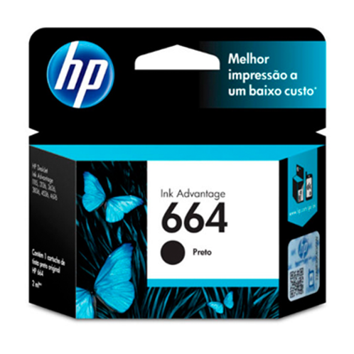 CARTUCHO HP 664 PRETO 2 ml