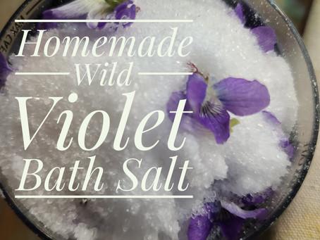 Easy Wild Violet Bath Salt Home Made