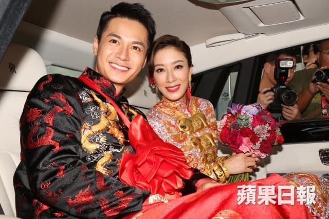 Hong Kong actress, Tavia Yeung & actor, Him Law's wedding in 2016