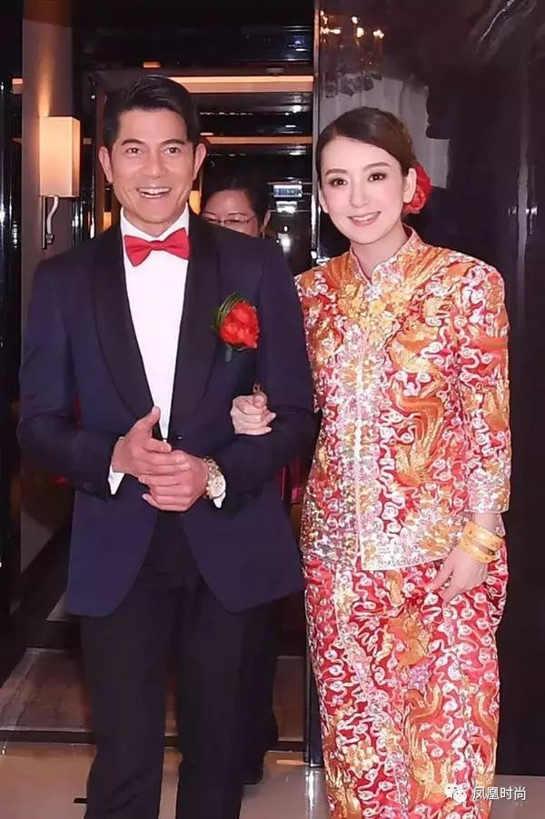 Cantopop star Aaron Kwok & model Moka Fang in 2017