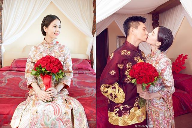 Taiwan actor, Nicky Wu and Chinese actress, Liu Shishi's wedding in 2016