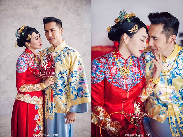Hong Kong actress, Christy Chung & Chinese actor, Shawn Zhang's wedding in 2016