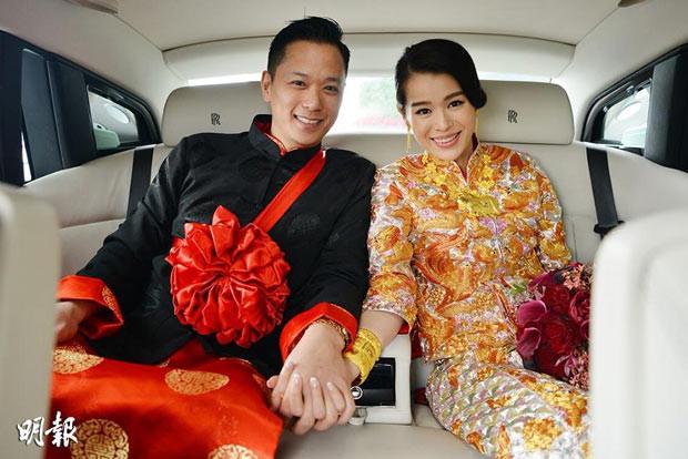 Hong Kong actress Myolie Wu & Philip Lee's wedding in 2015