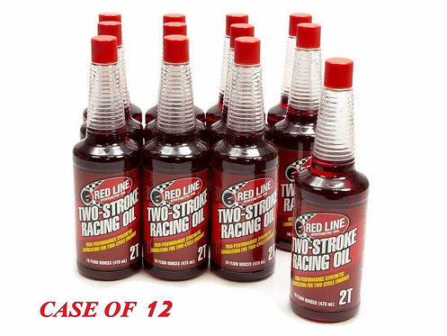 Red Line 2-Stroke Racing Oil, 16oz Bottle (case of 12)