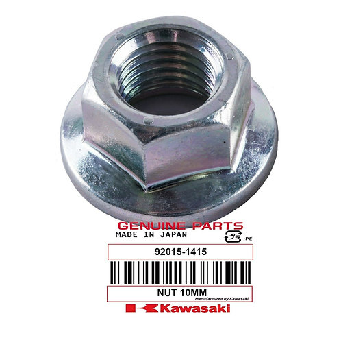 Genuine OEM 10mm Nut, Flanged (QTY 6) - Kawasaki Tecate KXT250