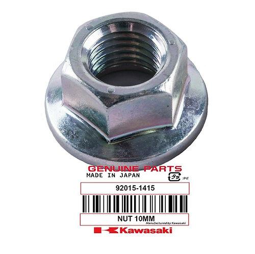 Genuine OEM 10mm Nut, Flanged (QTY 6) - Kawasaki Tecate KXT250