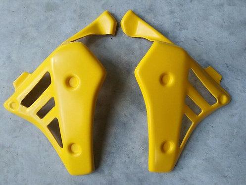 Radiator Shrouds, Yellow Yamaha Tri-Z 250