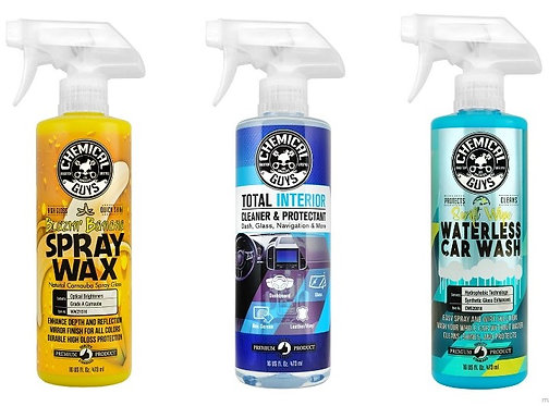 Chemical Guys, Variety 3 pack, Wash, Wax, Protect