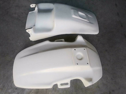 Front + Rear Fender, White Honda TR 200 Fat Cat