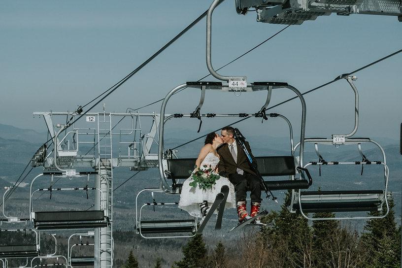 Ski Wedding at Gore Mountain NY  Blog Po