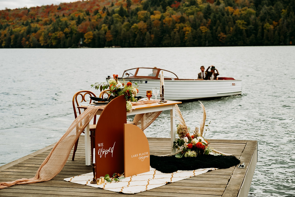 Lakeside Styled Elopement in Lake Placid