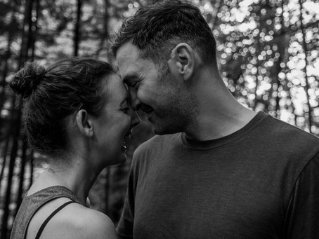 An Anniversary Adventure Photoshoot in Great Barrington, MA in Black and White