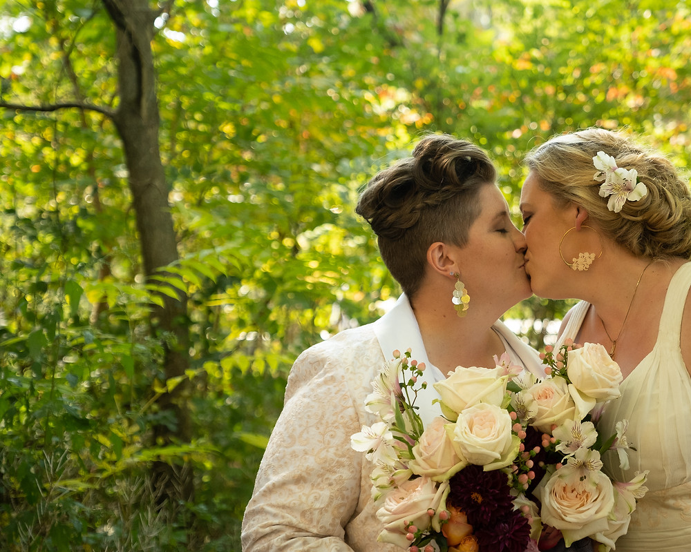 LGBTQ Intimate Wedding Surrounded By Nature