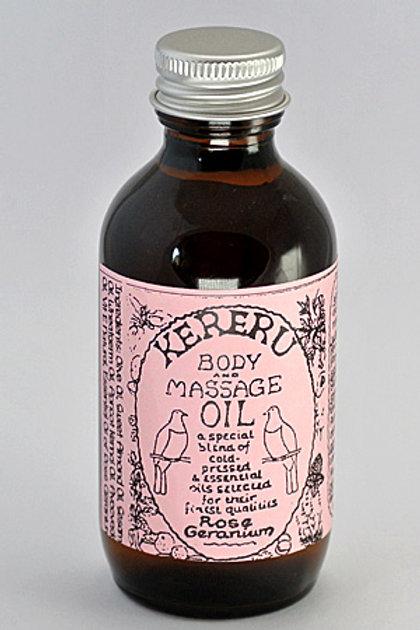 Rose Geranium Massage Oil - 100mL