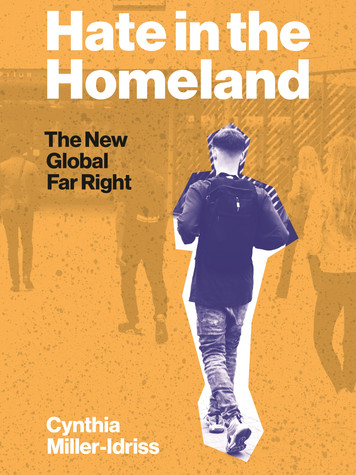 'Hate in the Homeland: The New Global Far Right' by Cynthia Miller-Idriss