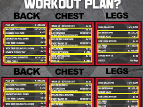 Do you have a workout plan?