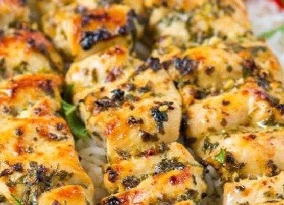 Chicken Souvlaki, Pitas, Tzatziki