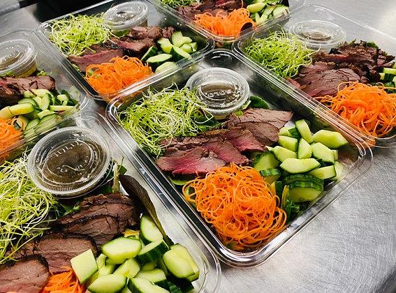 Honey Soy Flank Steak  Salad