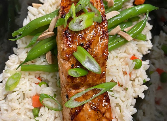 Salmon Filet | Rice Pilaf | Green Beans