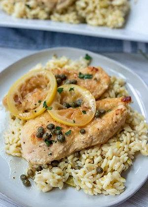 Chicken Picata | Lemon Orzo | Seasonal Vegetables
