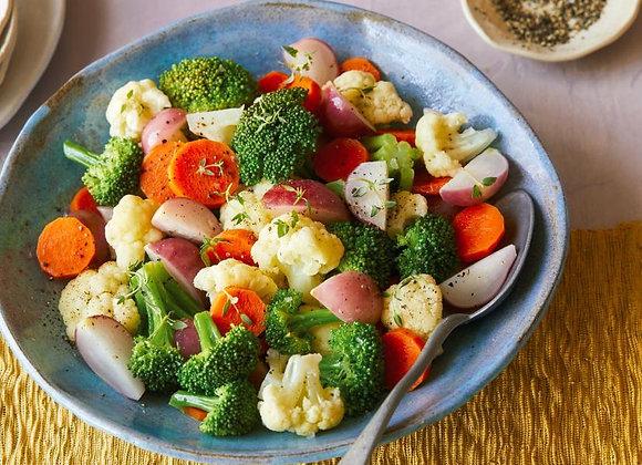 Steamed Seasonal  Vegetables