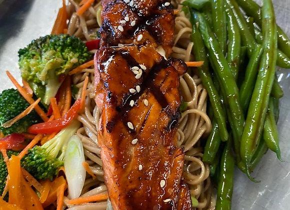 Teriyaki Salmon w/ Soba Noodles