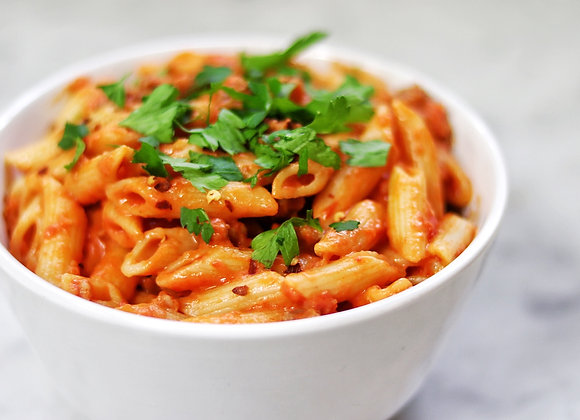 Penne Pasta with Tomato Basil Sauce