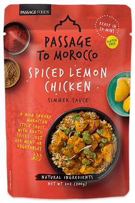 PASSAGE TO MOROCCO- SPICED LEMON CHICKEN
