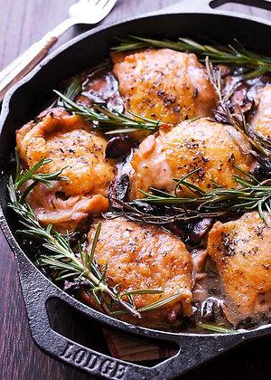 Rosemary Garlic Chicken, Steamed Vegetable Medley