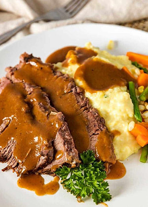 Classic Beef Brisket | Roasted Garlic Mash | Seasonal Vegetables