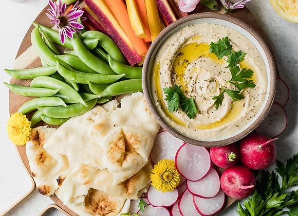 Hummus | Pitas | Veggie sticks