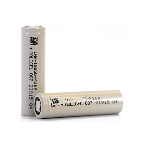 Molicell P26A 18650 Batteries