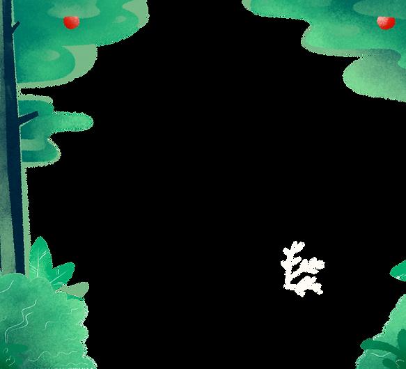 el fondo del bosque Illustrted