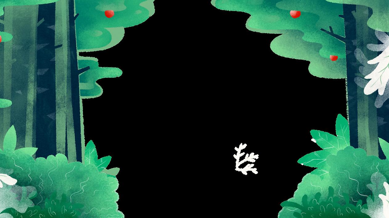 sfondo Illustrted foresta