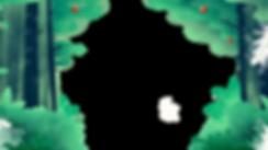 Illustrted森の背景