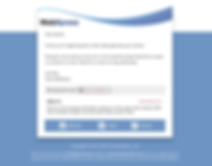 Signup email template