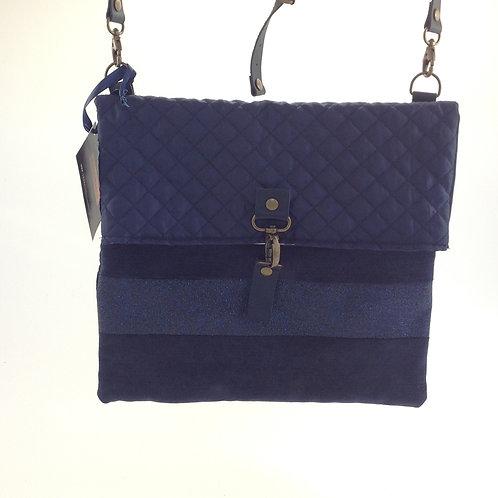 Besace bleue - Les sacs de rose marie