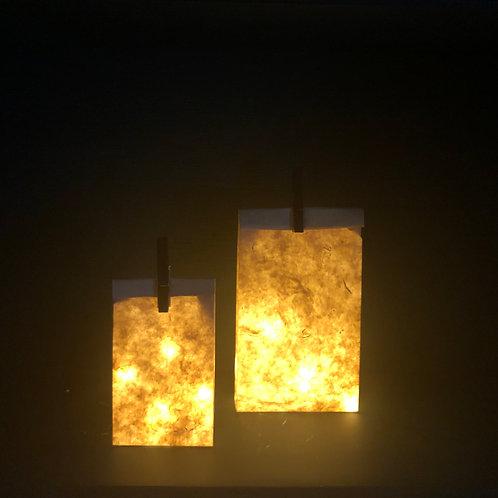 Lot de 2 sacs illuminés en papier Népalais (1 taille S et 1 taille M)