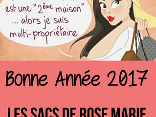 """""""Les sacs de rose marie"""" vous souhaite une bonne et heureuse année."""