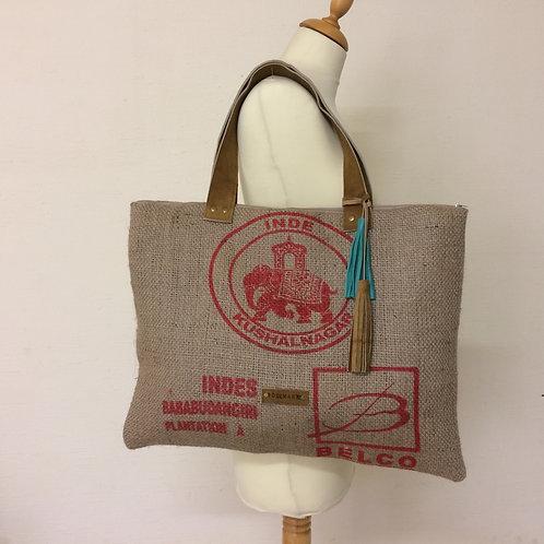 Sac Cabas en toile de jute - sac de café recyclé