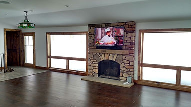 TV Over Fireplace Installation
