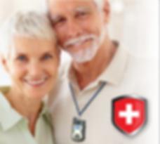 Elderly Couple Wearing A Medical Response Unit