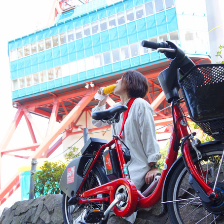 電動自転車に乗って札幌観光「ポロクル」