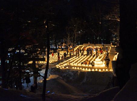 ロマンチックで鼻水垂れる、定山渓の「雪灯路」